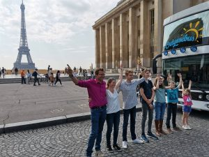 Famille Crespel - Départ Paris